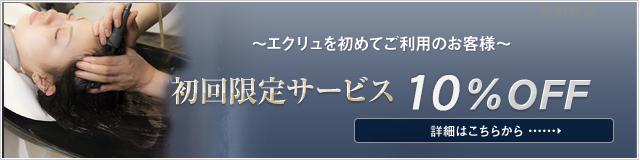 初回限定サービス 10%OFF
